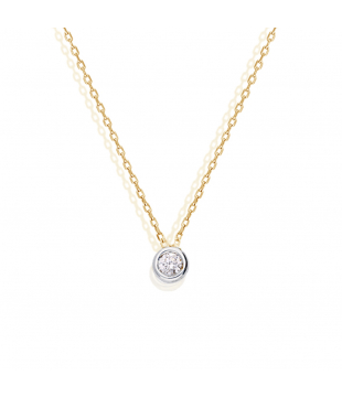 Collier Solitaire Or 18...