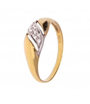 Bague Or Bicolore 9 carats...