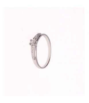 Bague Solitaire Or blanc 9...