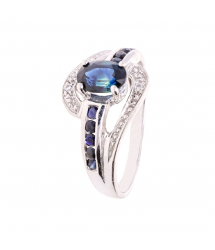 Bague Ovale Or Blanc 9...