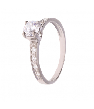 Solitaire Or Blanc 9kt OZS 5mm