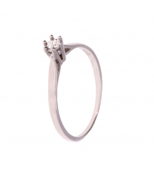 Bague Solitaire Or Blanc 18...
