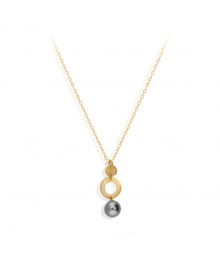 Collier Motif Perle Or 18kt...