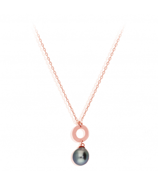 Collier Or Rose 9kt Perle...