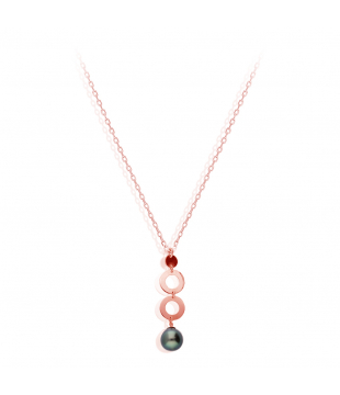 Collier Perle Or blanc 18kt...
