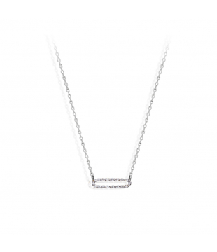 Collier Ovale Or Blanc 9...