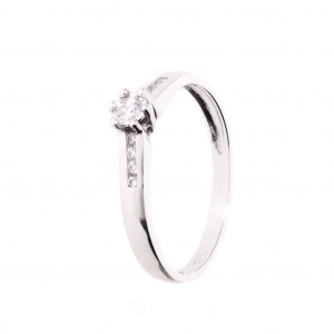 Solitaire 18carats Diamants H/SI 0.15cts