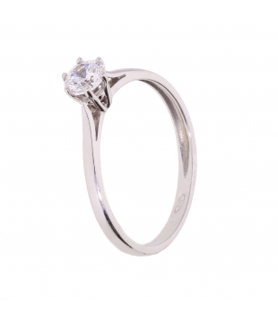 Bague Solitaire Or Blanc...