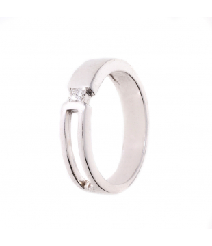 Solitaire Or Blanc 9kt...