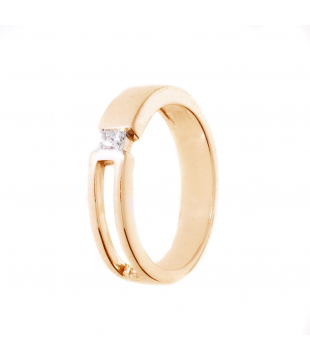 Solitaire Or 9kt Diamant 0.1ct