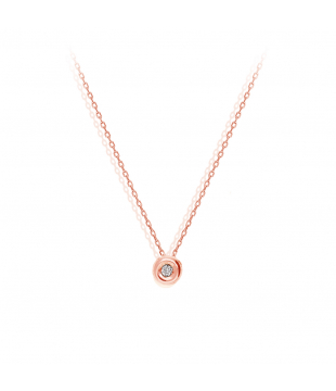 Collier solitaire 18kt...