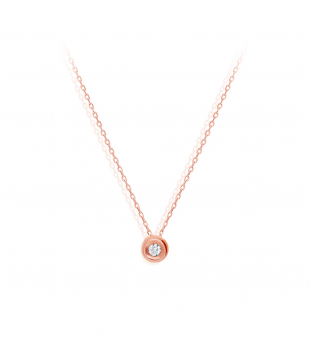 Collier Solitaire Or Rose...