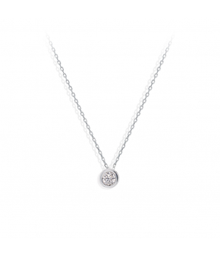 Collier Solitaire Or 18kt...