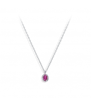 Collier Or 18 carats Rubis...