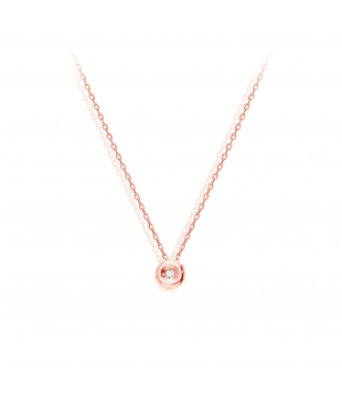 Collier solitaire 9 carats...