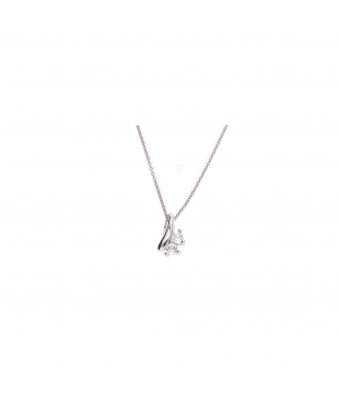 Collier Argent Blanc /Oxyde...