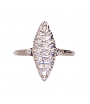 Bague Marquise  or 18...