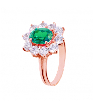 Bague Or Rose 9 carats...