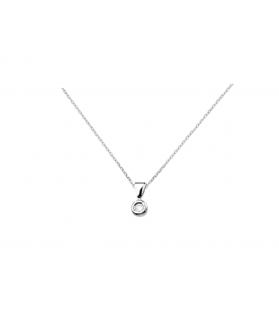 Collier clos or blanc 9kt...