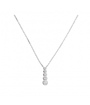 Collier Argent Blanc  Oxyde...