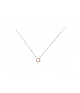 Collier Rond Or Blanc-Rose...