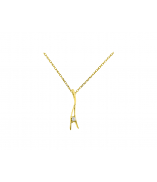 Collier Solitaire Or 9...
