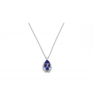 Collier Poire Or Blanc 9...