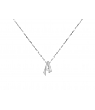 Collier Or Blanc 18kt...