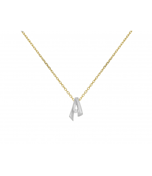 Collier Or Bicolore 18kt...