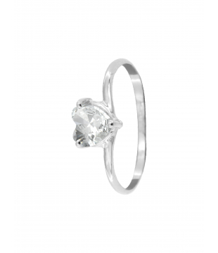Bague Solitaire Coeur Or 9...