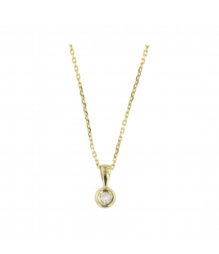 Collier Solitaire Clos Or...