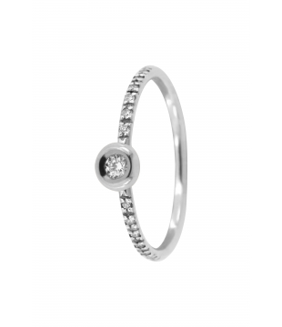 Bague Solitaire Or 9kt...