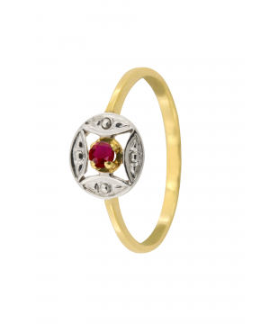 Bague Solitaire Or Bic 9kt...