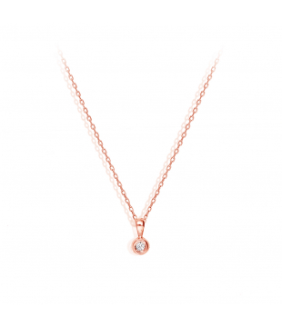 Collier clos or rose 18kt...