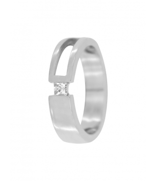 Bague Solitaire Or 18kt...