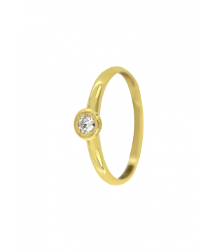 Bague Solitaire Or 9 carats...