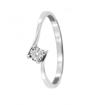 Solitaire Or 9kt Diamant...