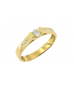 Solitaire or 18kt diamant...