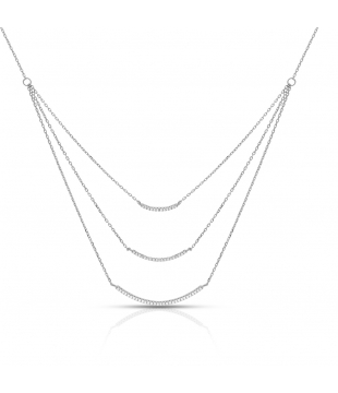 Collier argent 3 rangs ozs