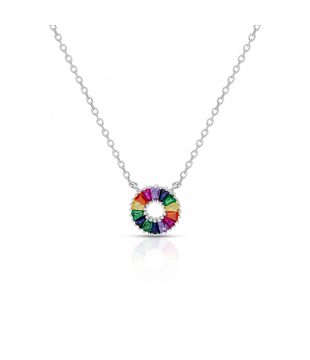 Collier argent rond...