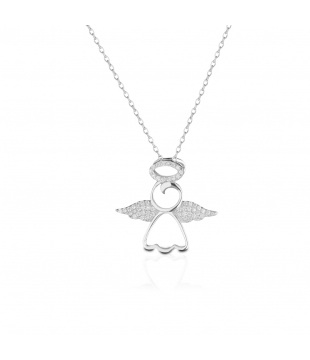 Collier argent ange oxyde...