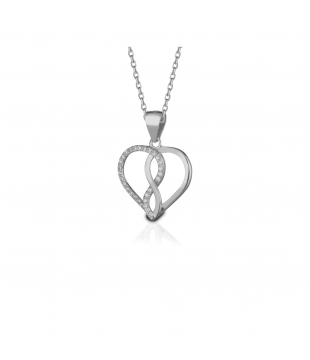 Collier argent infini oxyde...