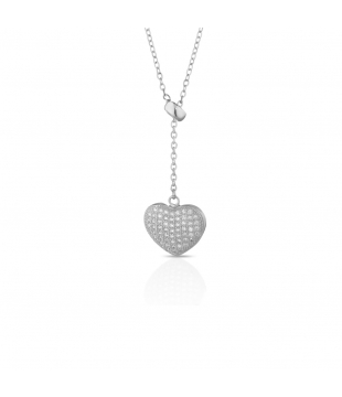 Collier cravate argent...