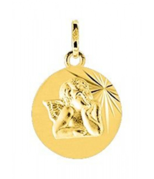 Pendentif Médaille Ange Or...