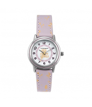 Montre LULU Ours Cuir blanc