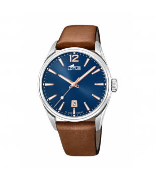 Montre LOTUS Cuir Bleu Quartz