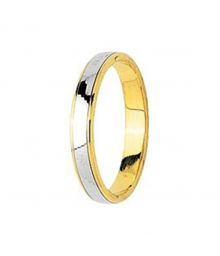Alliance Bicolore Or 18kt 3mm