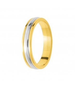 Alliance Bicolore Or 18kt 4mm