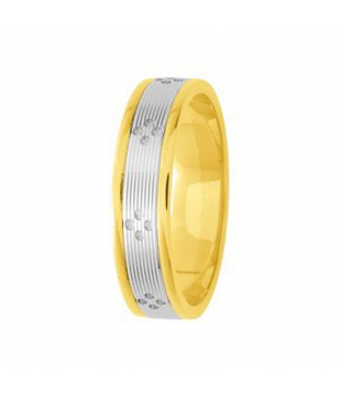 Alliance Bicolore Or 18kt 5mm