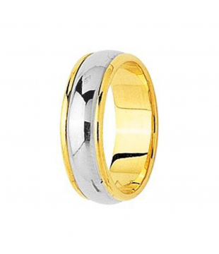 Alliance Bicolore Or 18kt 6mm
